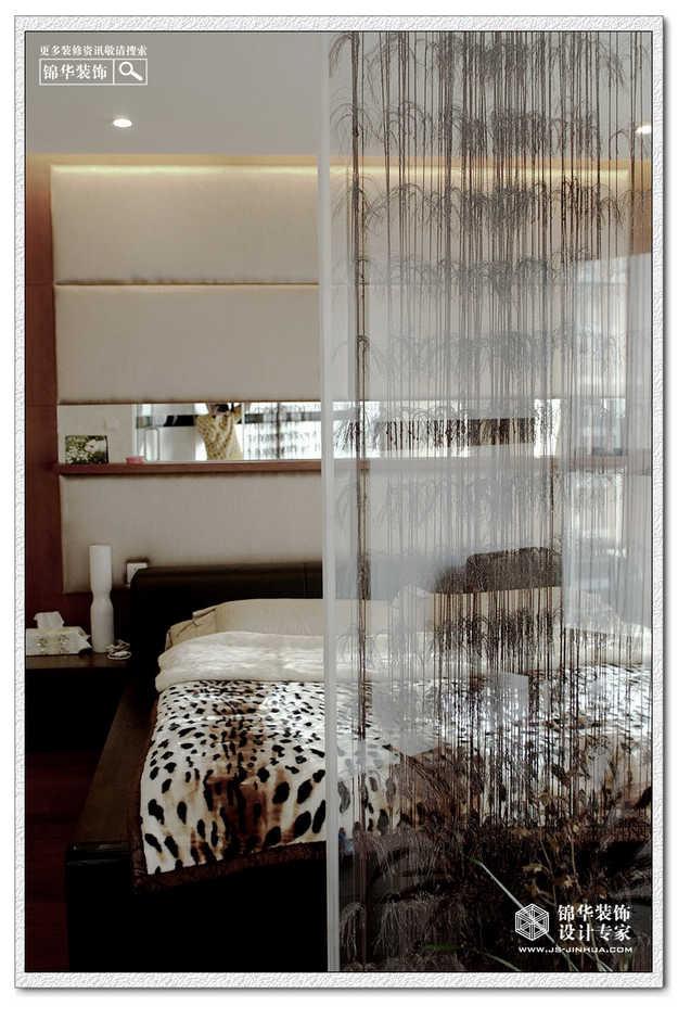 名称 隔断 100平三室一厅现代中式装修风格效果图片