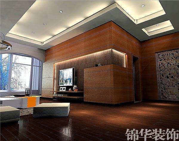 象牙白打艺术漆客厅装修效果图